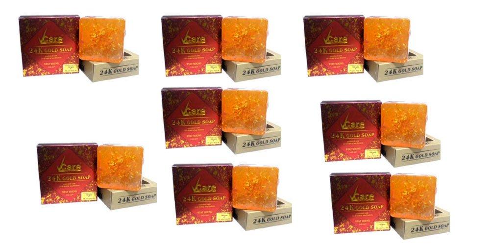 Pack of 8 - Vcare 24K Gold Soap - 100g