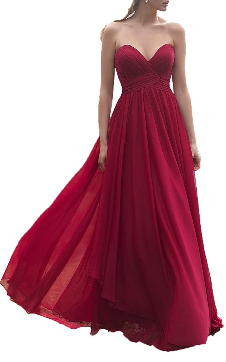 Amazon.com: OnlyBridal Womens Off Shoulder Sweetheart Neck A Line Chiffon Bridesmaid Dress Juniors: Clothing