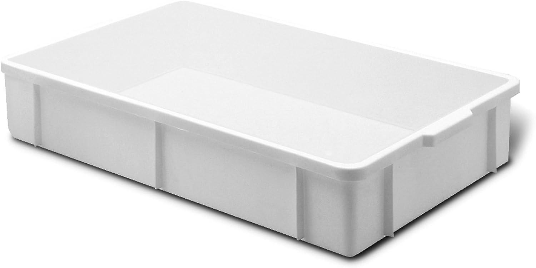Giganplast Transport Caja, Plástico, Blanco, 60 x 40 x 11 cm ...