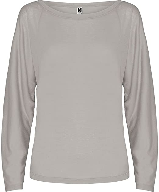 Camiseta con escote abierto y manga ranglan estilo ...