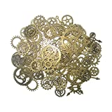 gears art - Steampunk Gears and Cogs, Suta 110 Grams Approx 70 pcs Steampunk Gears Assortment for Crafting and Jewelry Making Accessory - Bronze