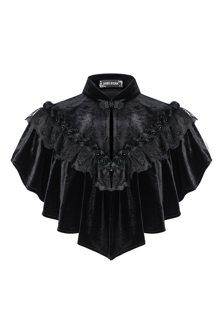 DARK IN LOVE BW043 Gothic Hearted Shaped Capelet