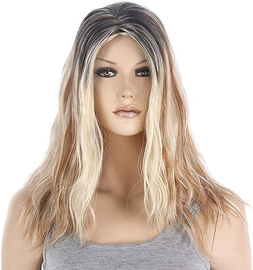 Postizos Peluca de pelo largo y rizado para mujer Resistente al ...