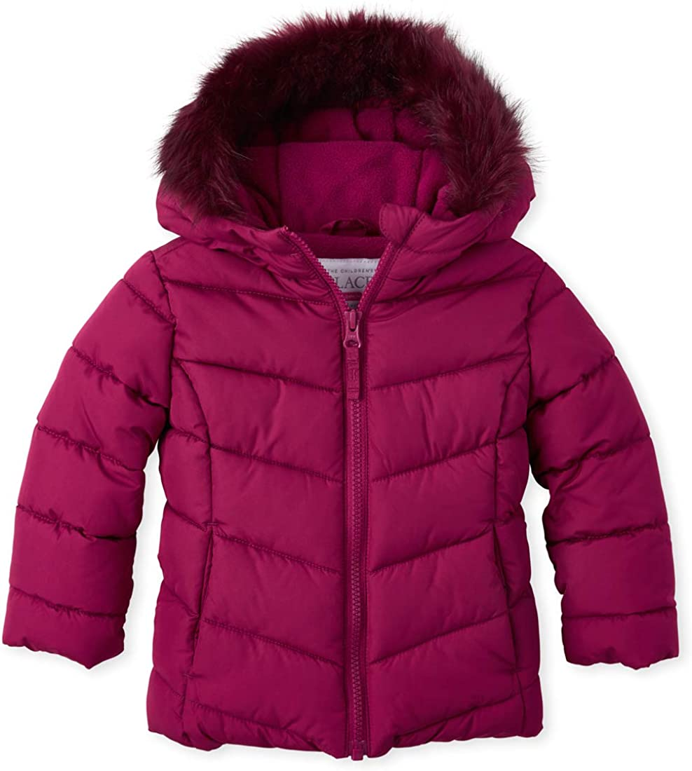 The Children's Place Baby Girls Hooded Puffer Coat