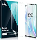[3 Pack] L K Screen Protector for OnePlus 8 Pro [Easy Install positioning tool], No-Bubble High Clear Flexible TPU Film