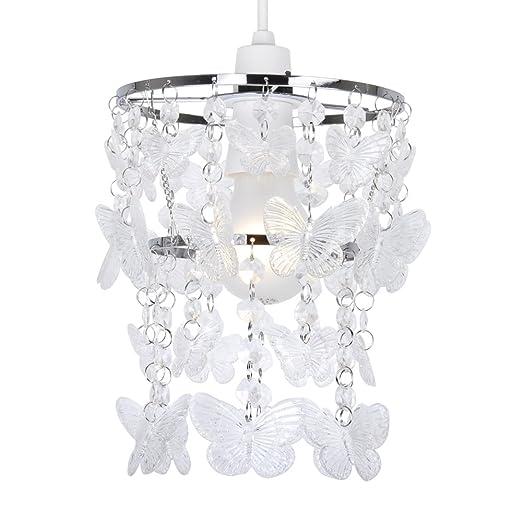Moderna Pantalla de Lámpara de Techo con Cascada de Mariposas ...