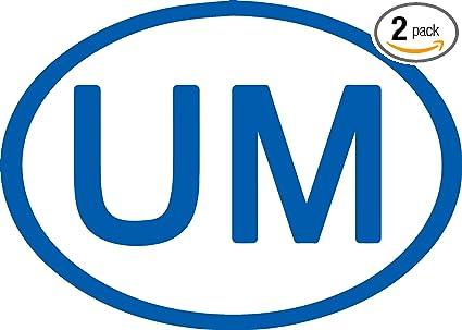 Amazon Com University Of Michigan Euro Car Sticker Azure Blue