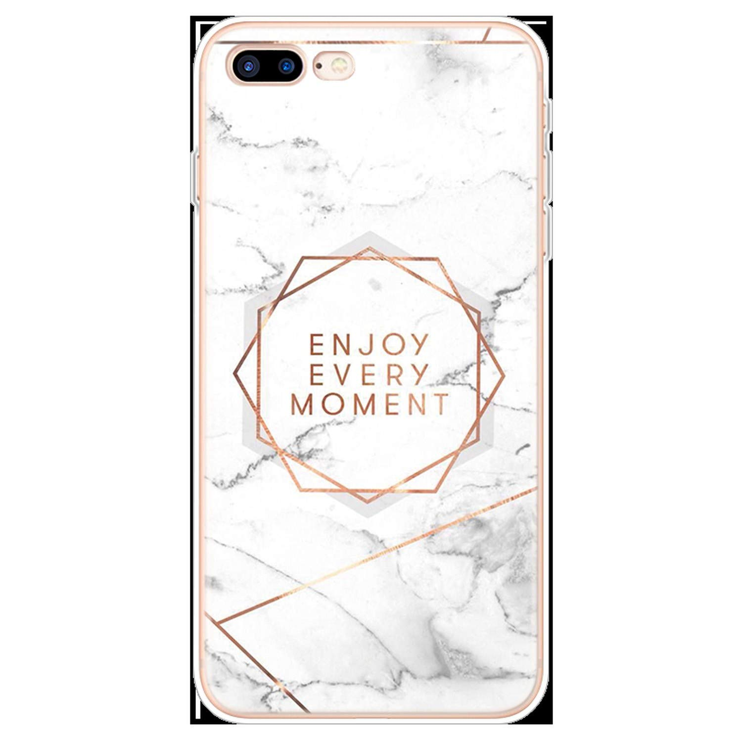 Amazon.com: Transparent Original Marble Case for iPhone 8 7 ...