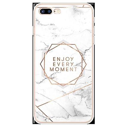 Amazon.com: Transparent Original Marble Case for iPhone 8 7 ...
