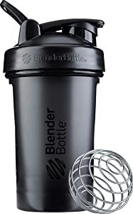 BlenderBottle Classic V2 Shaker Bottle, 20-Ounce, Black