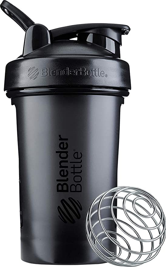 BlenderBottle Classic V2 Shaker Bottle Perfect for Protein Shakes and Pre Workout, 20-Ounce, Black