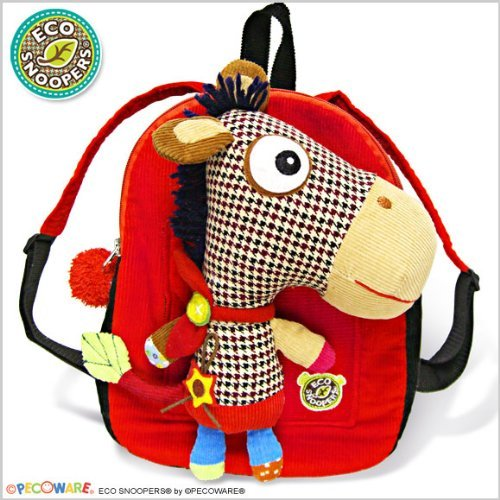 Pecoware Eco Snoopers Backpack with Removable Plush - Yippee-Yi ()
