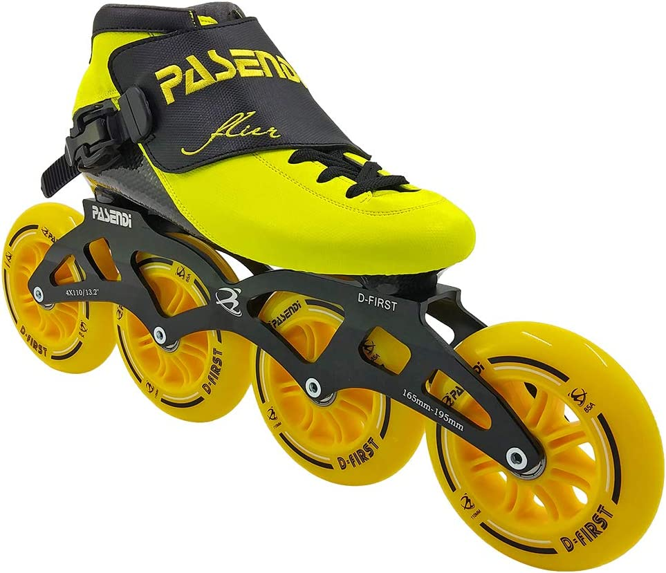 Speed Skating Shoes Childrens Professional Roller Skates Carbon Fiber Inline Skate Shoes 4 Wheels Skates for Men and Women