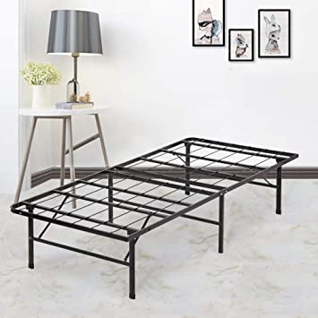 """14/"""" Bed Frame TWIN SIZE Metal Platform Full Iron Raised Low Foldable Heavy Duty"""