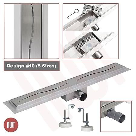 1000mm x 70mm Stainless Steel Rectangular Wetroom Drainage Gully Shower Drain Design 3
