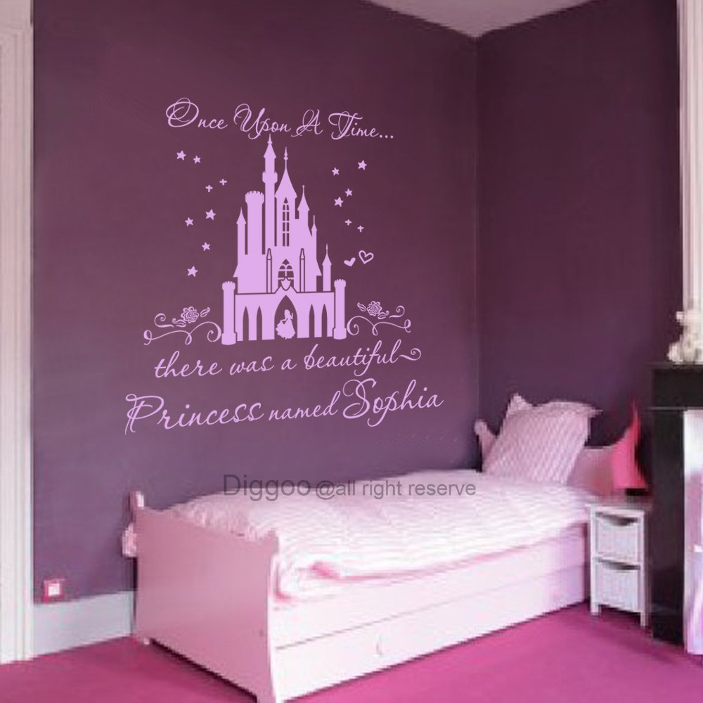 Amazon.com: Vinilo adhesivo para pared, diseño de castillo ...