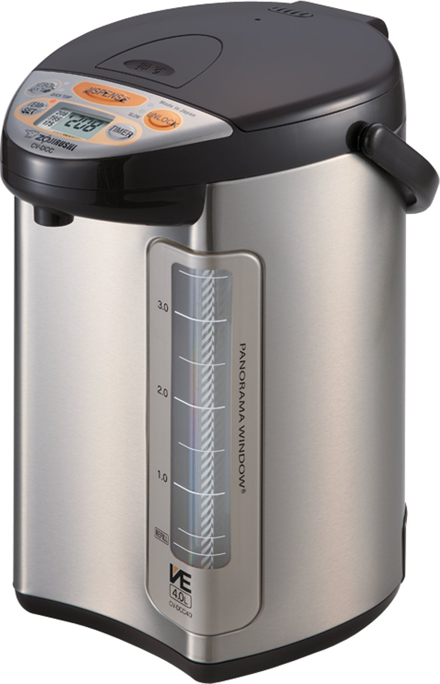 Zojirushi America Corporation CV-DCC40XT VE Hybrid Water Boiler and Warmer, 4-Liter, Stainless Dark Brown