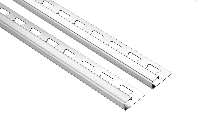 Eckst/ück f/ür Fliesenschiene Aluminium Eloxiert Optik Quadrat 11mm
