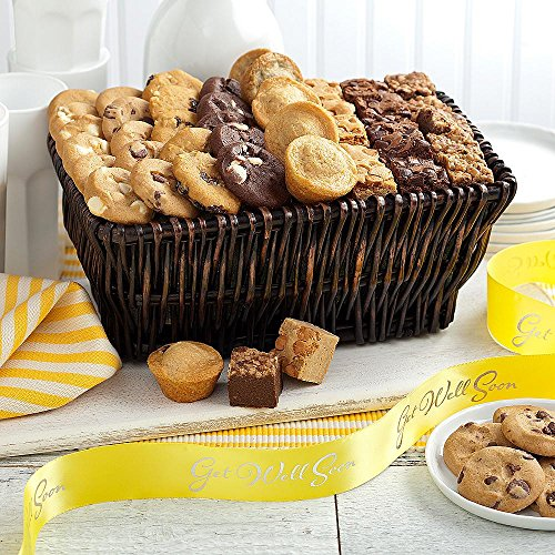 Shari's Berries - Mrs. Fields Classics with Get Well Ribbon - 1 Count - Gourmet Baked Good Gifts