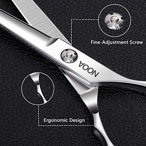 Hair Cutting Scissors Professional Hair Scissors 6.5 Inch Japanese Stainless Steel Home Salon Barber Shears Hairdressing Scissors With Detachable Finger Inserts…