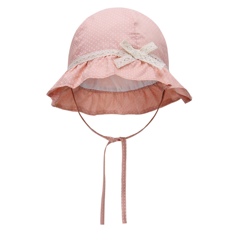 vivobiniya Baby Girl Sun Hats Toddler Girl Summer Hats Lace Bowknot Hats 0-6Y