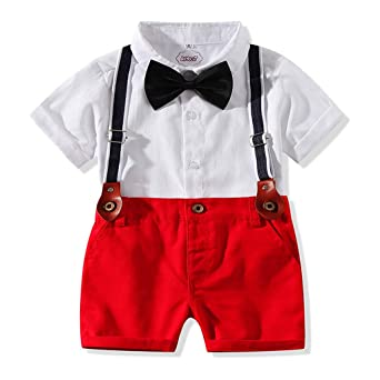 Baiomawzh Counjunto de Ropa Bebé Niño Verano Camisas Bowtie ...