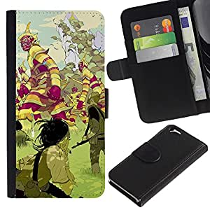 KingStore / Leather Etui en cuir / Apple Iphone 6 / Criaturas mística tierra de cuento de hadas