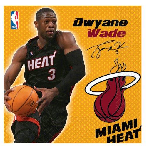 Amscan Miami Heat Dwyane Wade Basketball - Lunch Napkins -