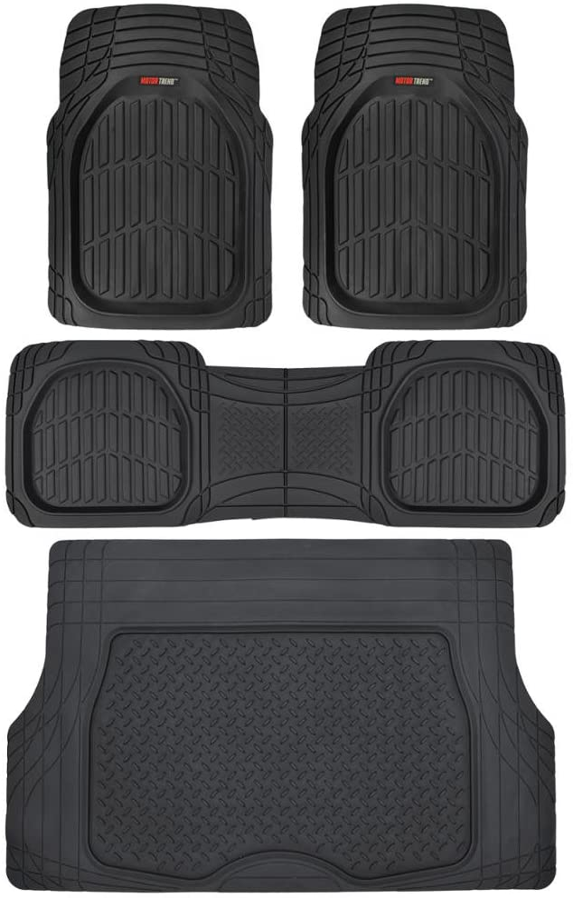 Motor Trend 4pc Black Car Floor Mats