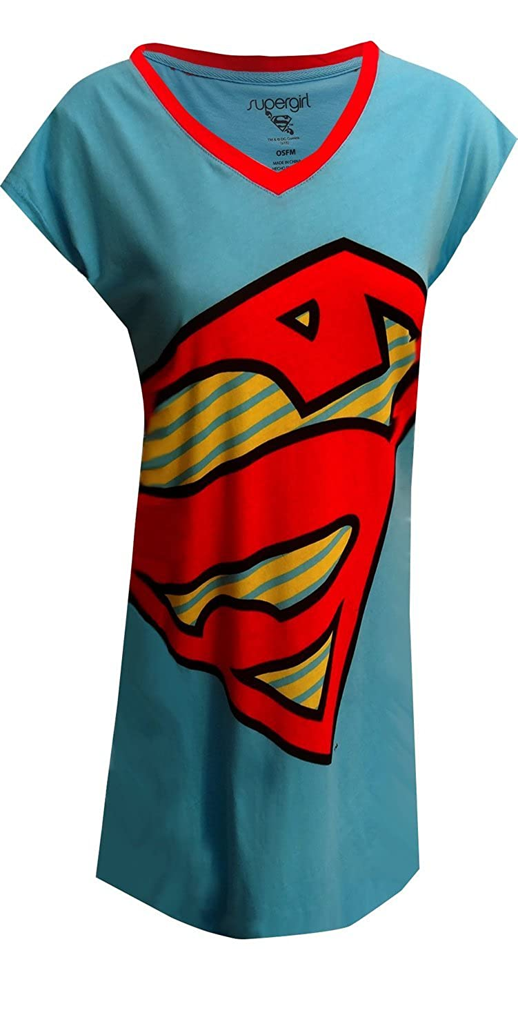 DC Comics SuperGirl Logo Nightshirt for women (One Size) BS-17SG069JDSZA-Blue-One-Size