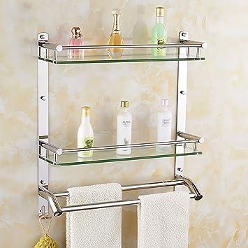Badezimmer Regal Badezimmer-Regal 304 Edelstahl-doppeltes Regal ...