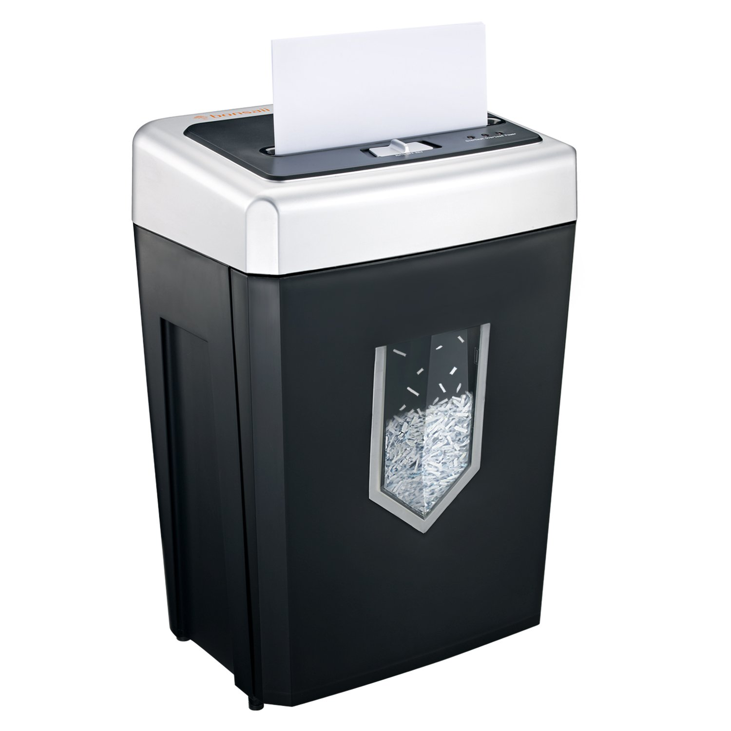 Bonsaii 14-Sheet Cross-Cut Heavy Duty Paper Shredder, 30-Minute Continuous Running Time, CD/Credit Card/Staples Shredders for Office, Quiet Shredding Machine with Jam Proof System (C169-B) by bonsaii