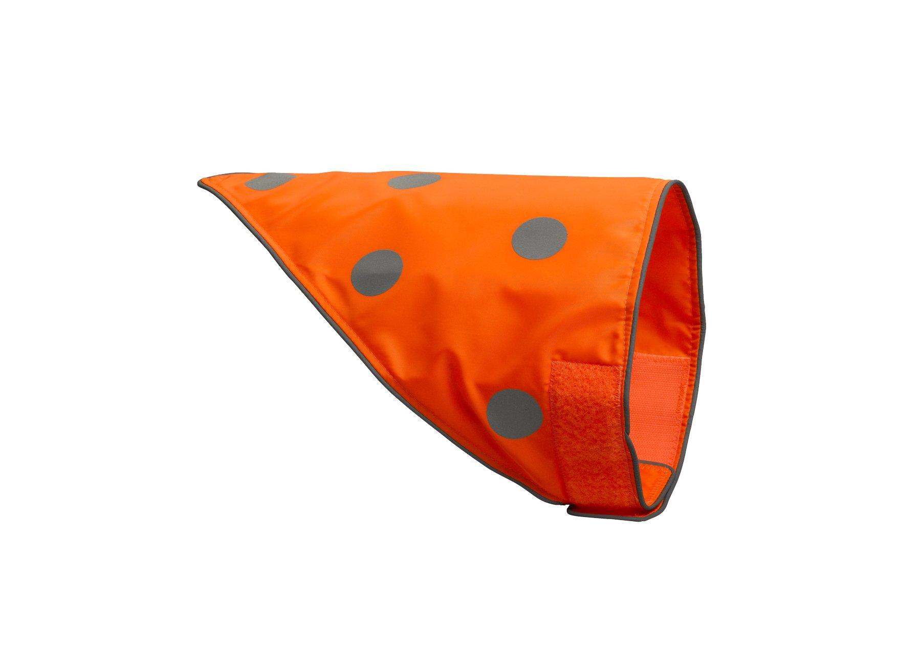 Spot the Dog, Easy Fastening Dog Bandana, Large to X-Large, Florescent Orange