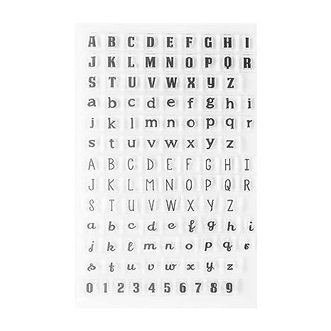 Sellos de Silicona Letras del Alfabeto Números Sets de Sellado Niños Adulto DIY Craft Scrapbooking Tarjeta Que Hace Diario Álbum Decorar Papelería ...