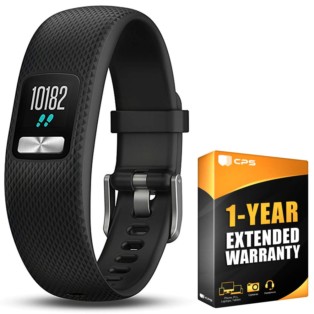 Garmin Vivofit 4 Activity Tracker W/Color Display Large Black (010-01847-03) with 1 Year Extended Warranty