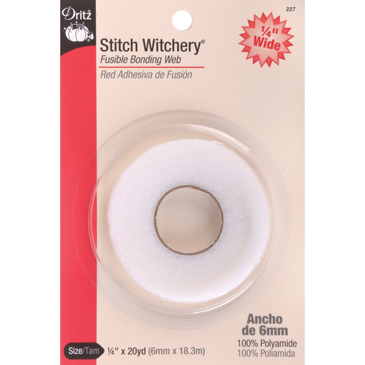 1//4-Inch X 20-Yards White Dritz 1//4x20 tape