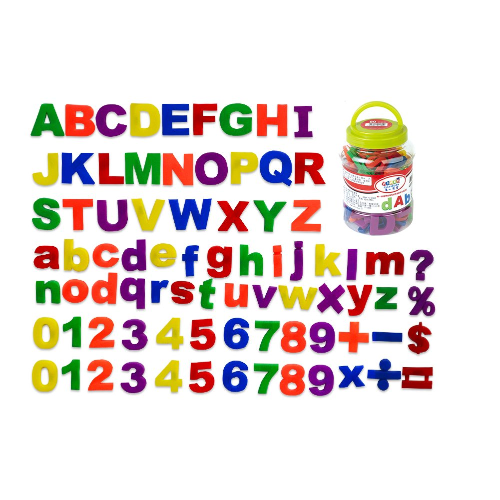 Godery Magnetic Letters and Numbers for Kids Studying in Fun -Educational Alphabet Refrigerator Magnets - Magnetic Alphabet for Toddlers(80 Pieces)