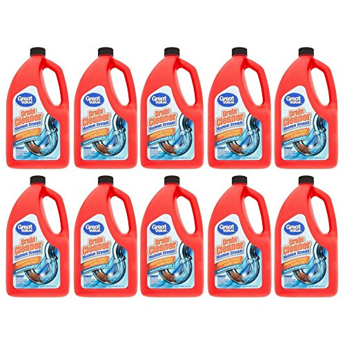 Great Value Professional Strength Drain Clog Remover Gel, 80 fl oz (pack of 10) by Great Value (Image #1)