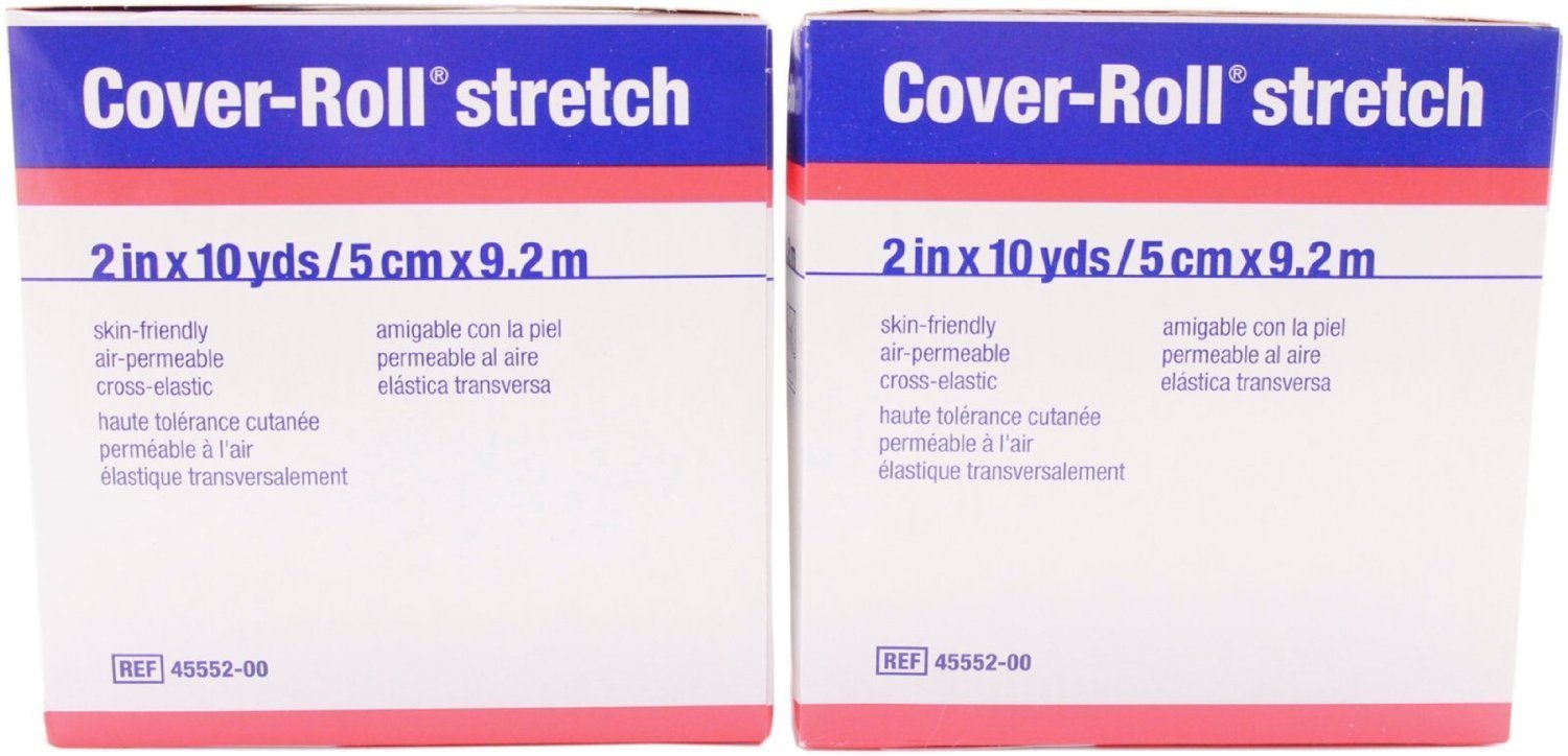 """Cover-Roll Stretch - 2"""" x 10 yards - Hypoallergenic pack of 2"""