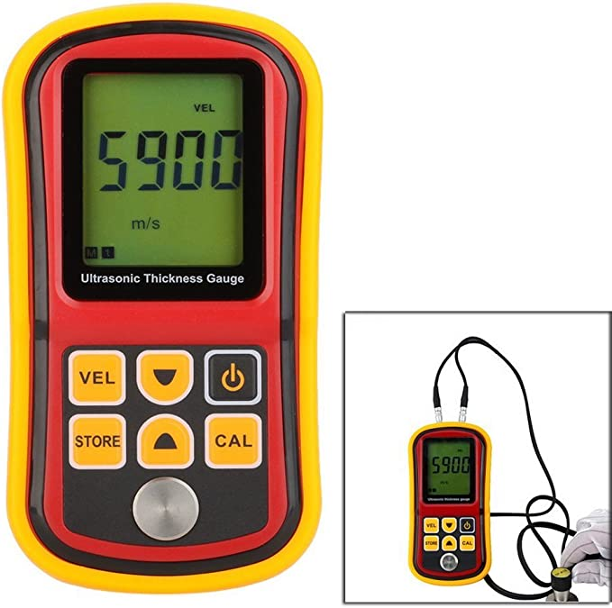 GM100 Ultrasonic Thickness Gauge Digital LCD Metal Thickness Gauge Sound V M1N5