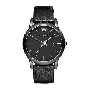 06a5096b37 Emporio Armani Men's AR1732 Dress Black Leather Watch