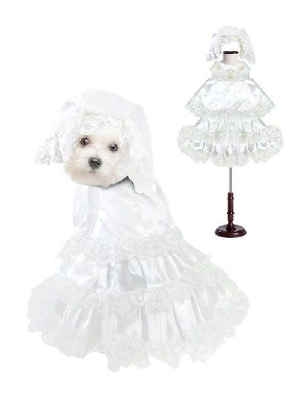 Dog Costume White Wedding Dress Costumes Dress Your Dogs