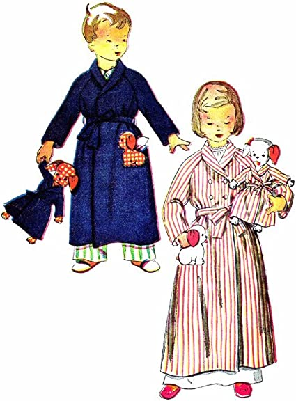 Amazon Com 1950s Childs Robe And Doll And Dolls Robe Vintage Sewing Pattern Simplicity 4058 Check Listings For Size Arts Crafts Sewing