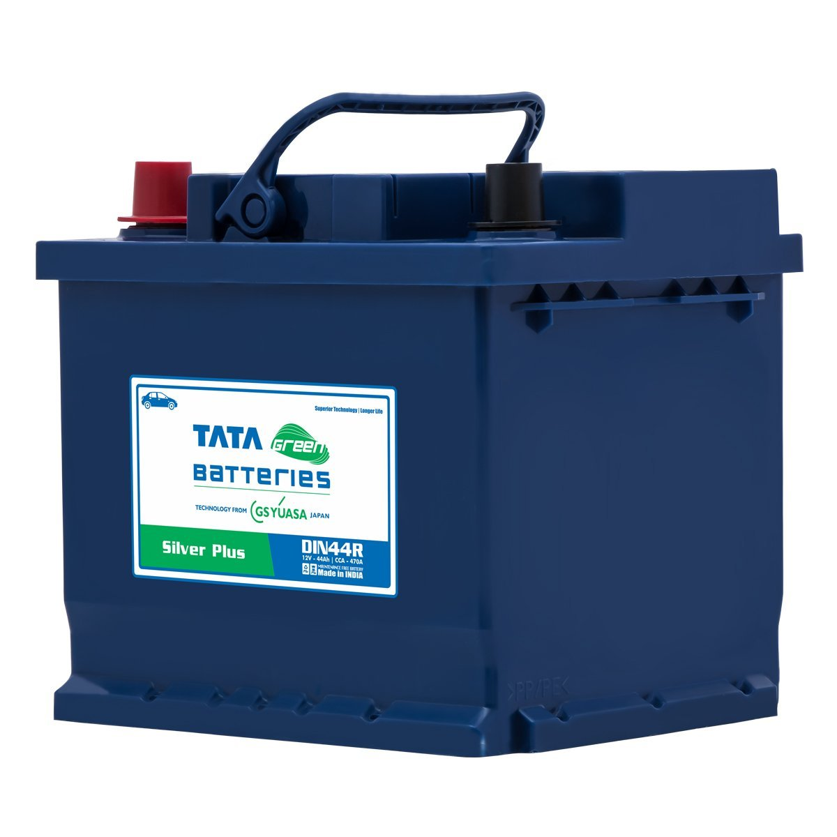 Tata Green Batteries 1419511167 Silver Plus Din44r 12v 44ah Car