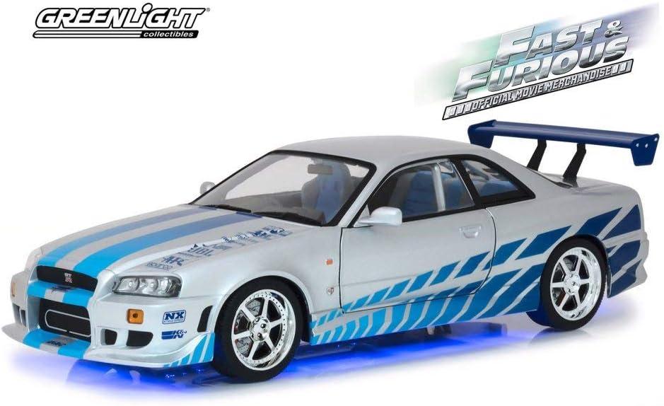 Nissan Skyline Gtr 1999 >> Amazon Com 1999 Nissan Skyline Gt R R34 With Blue Neon