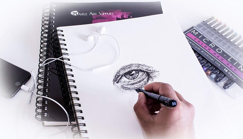 Amazon.com: Castle Art Supplies Artists Sketch Books (2 Sketch Pad ...
