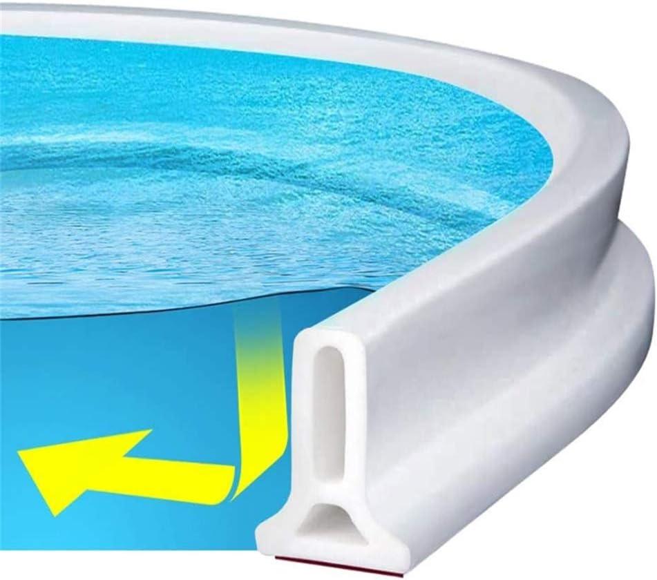 Tira impermeable autoadhesiva 50cm Ducha presa Barrera de agua de silicona Cuarto h/úmedo Cuarto de ba/ño piso Tira de sellado de la puerta La presa de la ducha evita el desbordamiento del agua