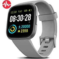 Smart Watch IP68 Waterproof Activity Tracker with Heart Rate Blood Pressure Monitor, Sleep Tracking Fitness Watch with Android & iOS Calorie Step Counter Touch Screen Pedometer for Women Men