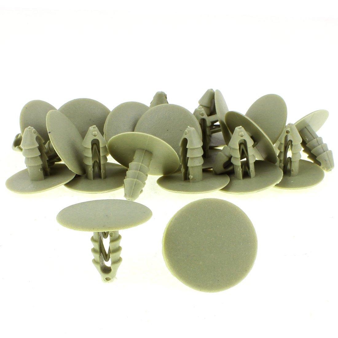 Sourcingmap/® Auto Voiture Rivets Plastique glissi/ère Porte Habillage agrafes retenue Beige 20pcs