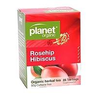 Planet Organic Rosehip Hibiscus Herbal Tea, 1 x 25 Pieces